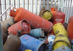 Safe disposal of lpg gas cylinders