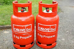 Butane and propane gas for camping