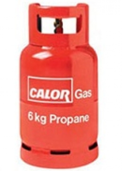 A red propane cylinder example