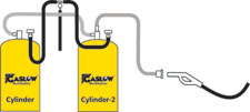 Gaslow R67 11kg refillable no.2 cylinder