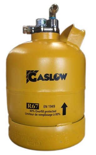 Gaslow R67 2.7kg refillable No. 2 cylinder