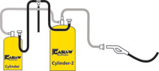 Gaslow R67 6kg refillable no.2 cylinder