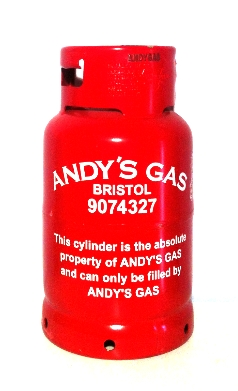 Andy's Gas 11 kg refillable propane cylinder image
