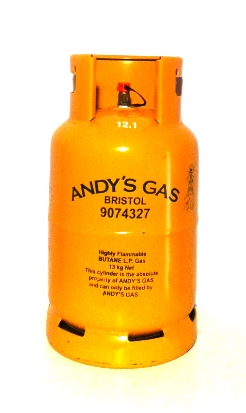 Andy's Gas 13kg refillable butane cylinder Image