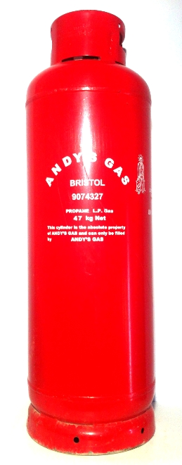 Andy's Gas 47kg refillable propane cylinder image