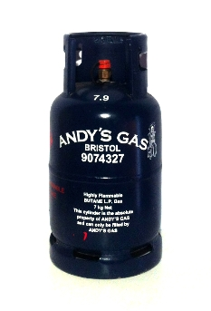 Andy's Gas 7kg refillable butane cylinder image