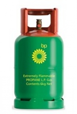 BP Gas steel 6 kg refillable cylinder