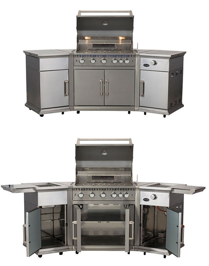 Lifestyle Bahama Stainless Steel Island Grill Image