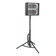 Sealey LP3000 Infrared Quartz Heater with Telescopic Tripod Stand  Image