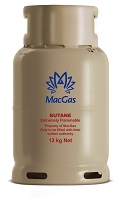 MacGas steel 13 kg refillable cylinder