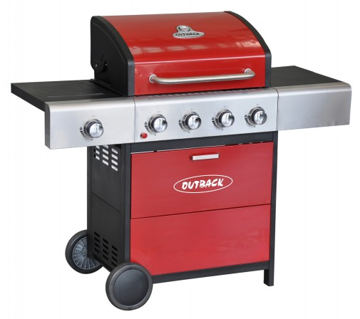 Outback METEOR SELECT 4 BURNER GAS – RED OUT370521