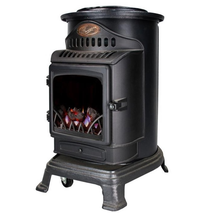 Provence Matt Black Gas Heater Image