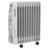 Sealey RD1500 Oil-filled Radiator with Timer Image
