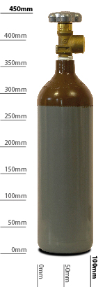 Adams Gas 2L Refillable Helium Balloon gas Cylinder – Refill Only- image