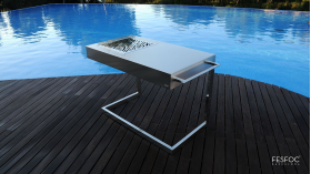 FESFOC AKAN FORCE - LUXURY, FREESTANDING CHARCOAL BBQ