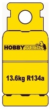 Hobbyweld R134a Refrigerant Gas refillable cylinder image