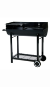 Lifestyle 1/2 Barrel charcoal BBQ with windshield