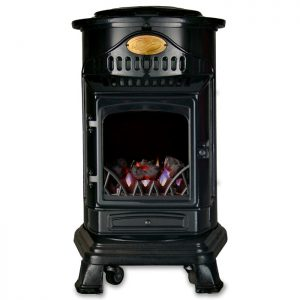 Provence Gloss Black Gas Heater Image