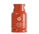 BP Gas steel 6 kg refillable red cylinder Image