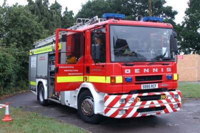carport blaze in Tilehurst